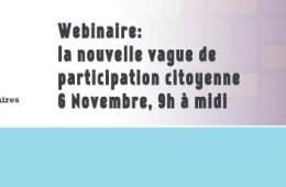 Webinar (in French): Sommes-nous en présence d'une nouvelle vague de participation citoyenne?