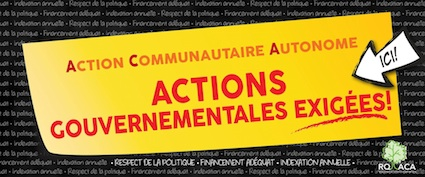 Call for participation in the Commission Populaire sur l'Action Communautaire Autonome